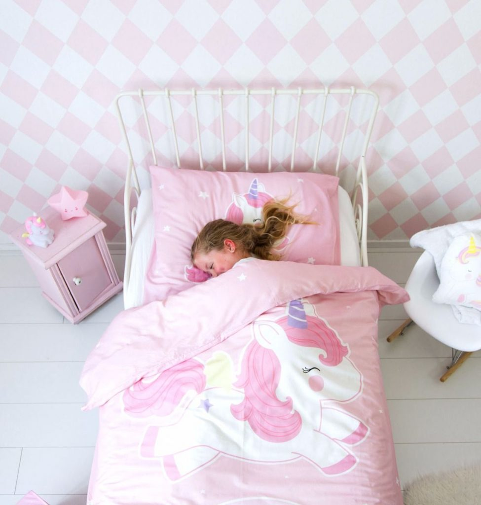 dekbedovertrek 1 pers baby unicorn villa uk. Black Bedroom Furniture Sets. Home Design Ideas